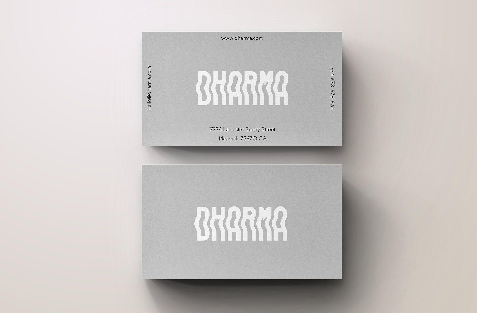Dharma Modern Grey Business Card By Blank Studio On