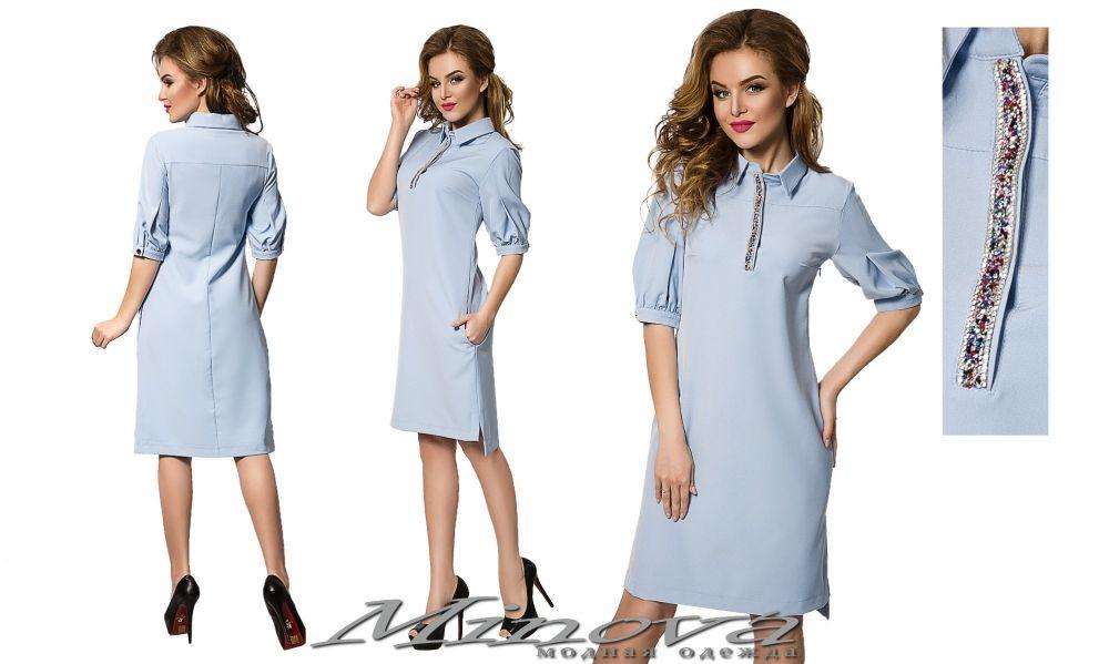 717d952b5f2 Платье №003н-голубой - Платья размеры 42-48 - Minova интернет-магазин