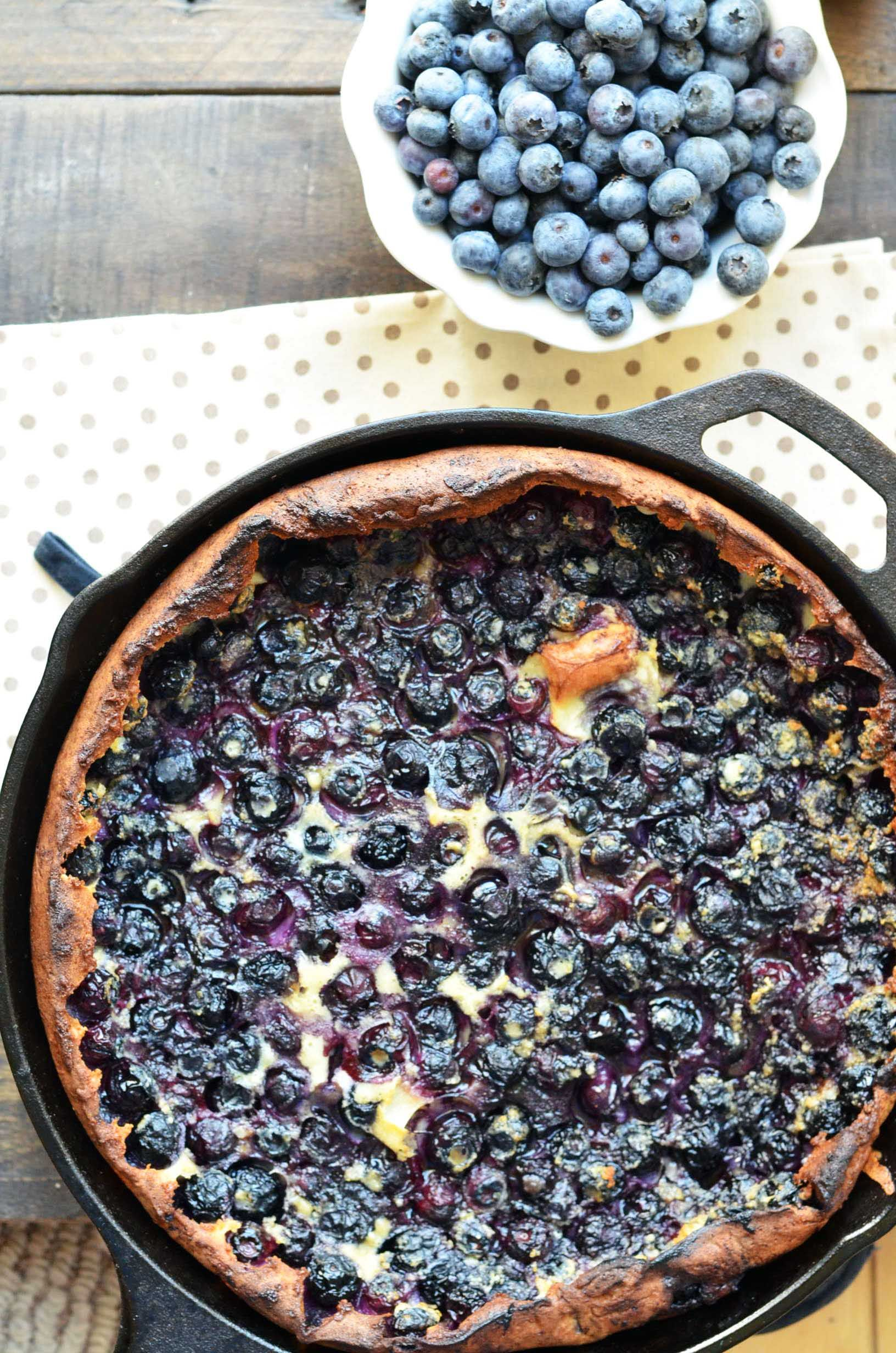 Blueberry lemon dutch baby for breakfast (or dinner if you live in my house)