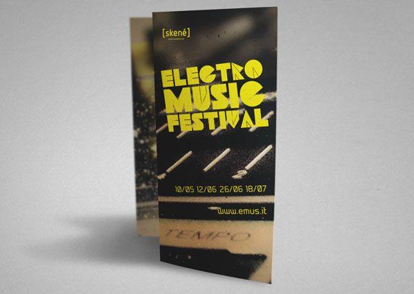 Brochure-Design-for-Electronic-Music-Festival Graphic Design - music brochure