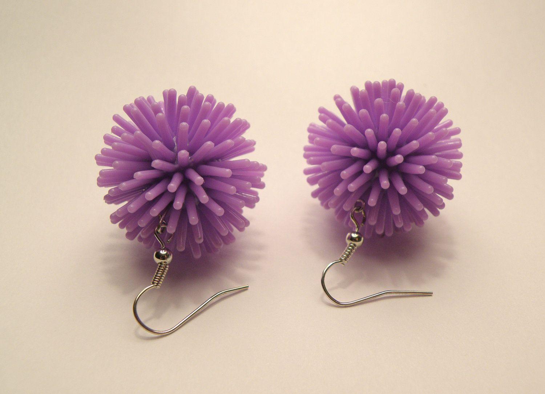 purple spiky earrings