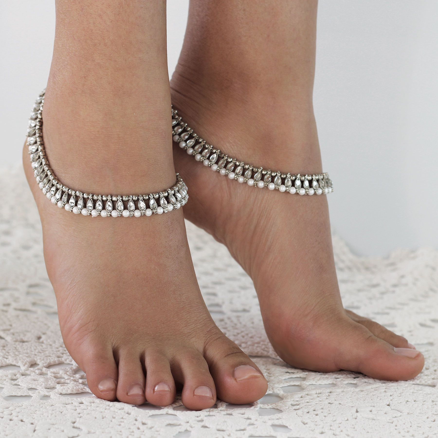 Anklet: Shanti by Forever Soles | Forever Soles Bohemian Bridal Shoes, Beautiful Anklets and Barefoot Sandals