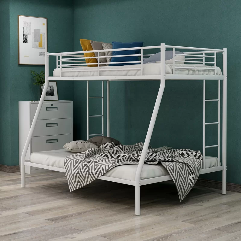 Mcilwain Twin over Full Bunk Bed | White bunk beds, Metal bunk beds, Bunk  beds