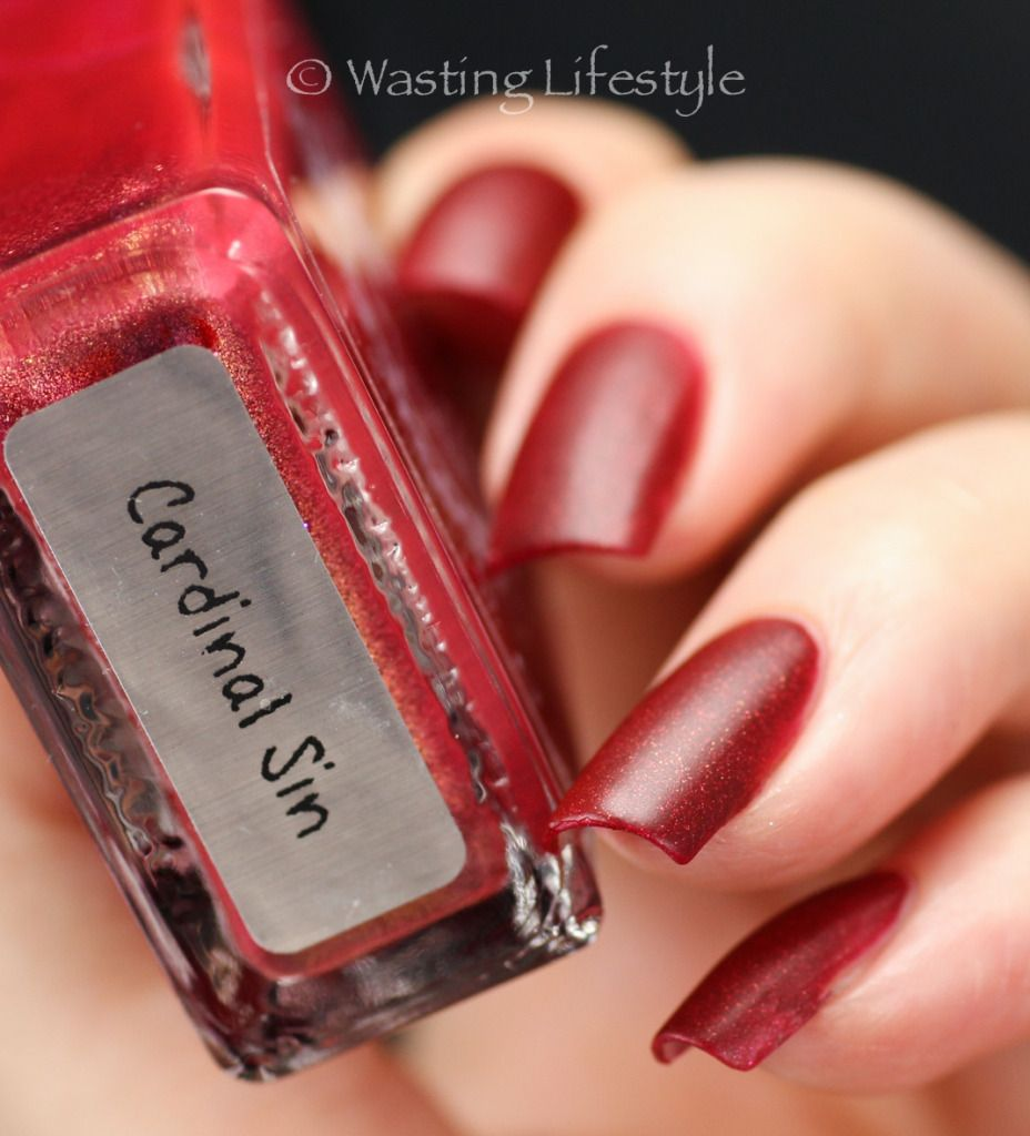 Cardinal Sin, swatched by Wasting Lifestyle