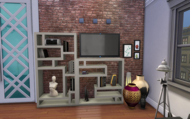 Living room, Tv stand - Industrial Loft   19 Culpepper House, Spice Market   San Myshuno.