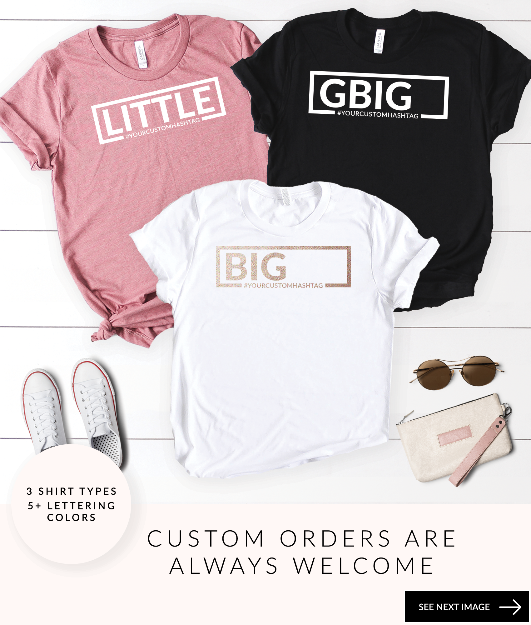 150445ca Sorority Reveal Shirts Little Big GBig GGbig GGGBig GLittle Sorority Fam  College Shirts Reveal Shirts Greek Letters