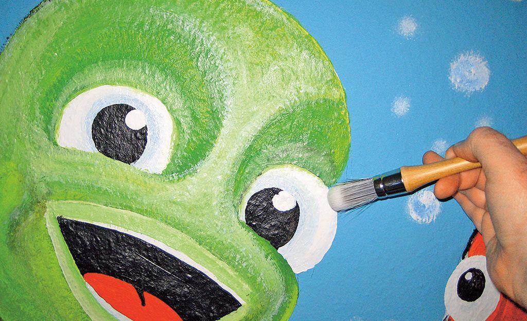 Mit den Rundpinseln lassen sich tolle Wandmalereien verwirklichen. Wir haben die Pinsel getestet.