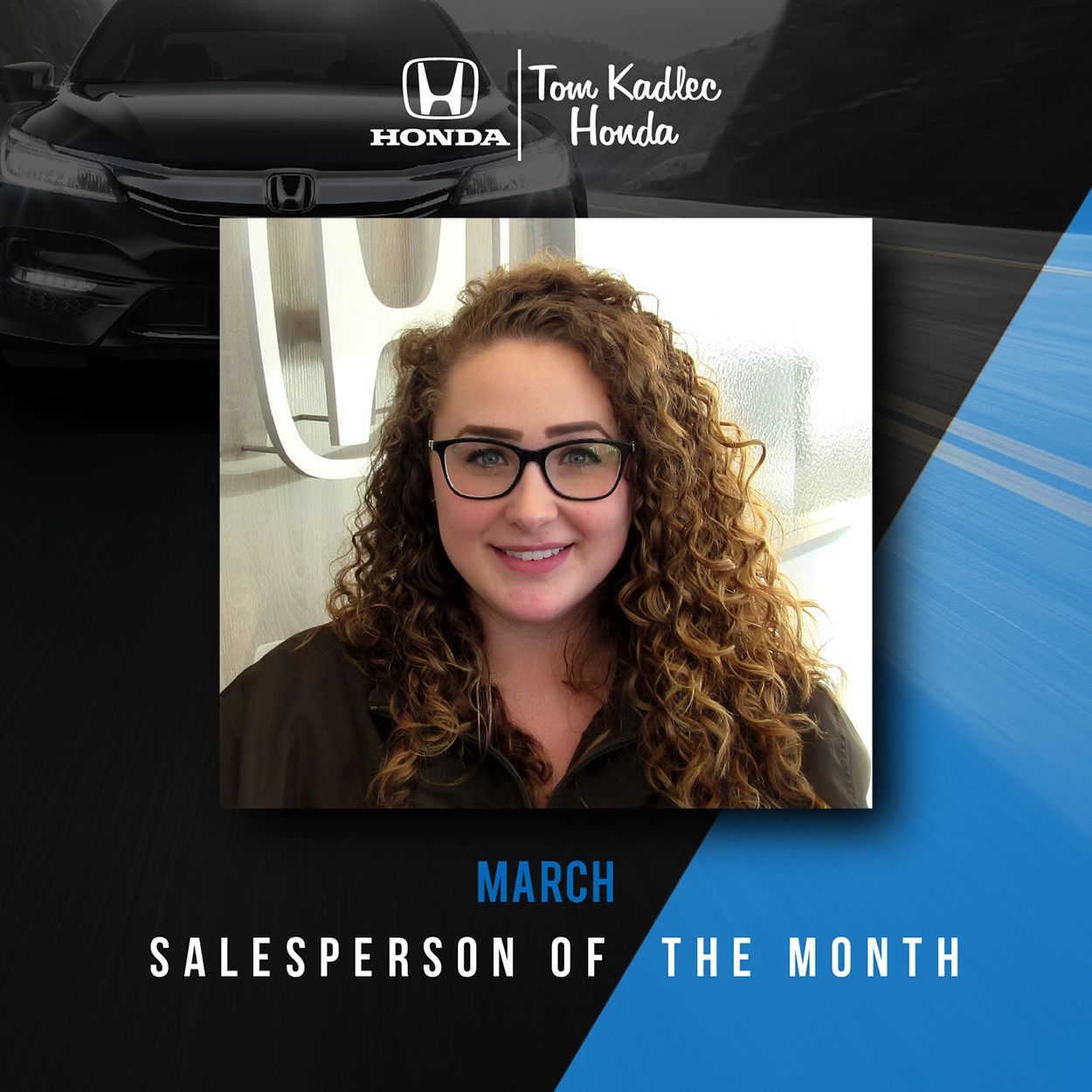 A special congratulations to our March Salesperson of the