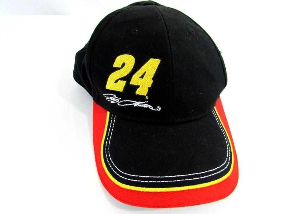 7e1f7a7628b Jeff Gordon 24 Valvoline NASCAR Baseball Cap Hat Adjustable  TSMGI  NASCAR