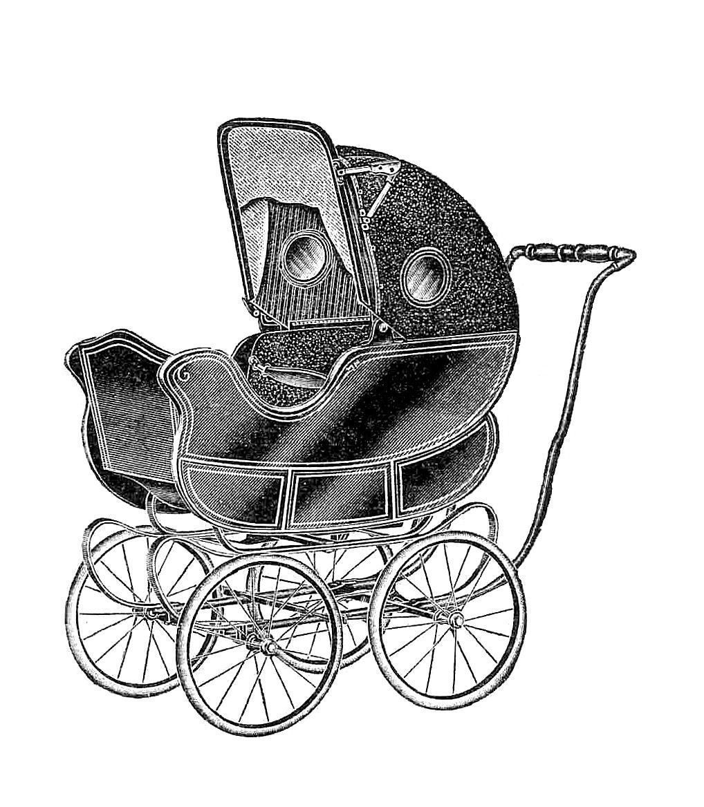 Antique Images Free Baby Carriage Graphic Vintage Digital Stamp Of Baby Carriage Clip Art Vintage Vintage Art Prints Antique Images