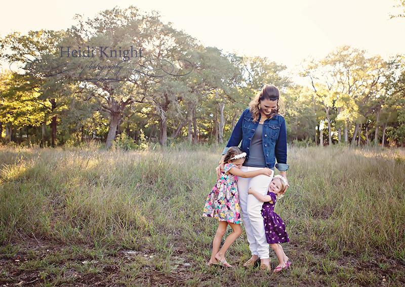 these girls love their mama  Heidi Knight Photography
