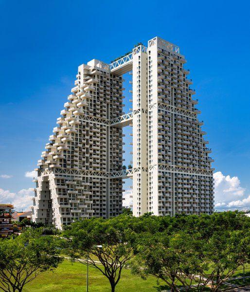 Sky Habitat In Singapur Kombiniert Zwei Turme Mit Urbanen Garten Und Terrassen