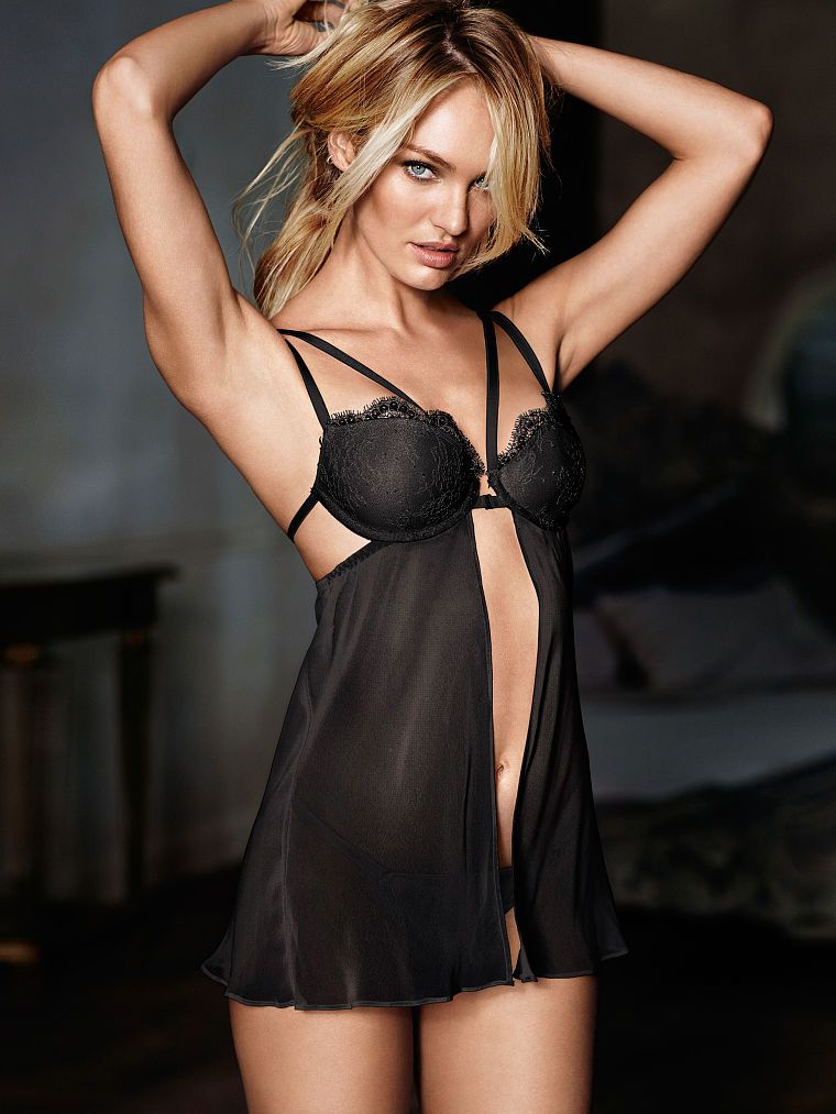 Candice Swanepoel - Strappy Chantilly Lace Babydoll - Very Sexy -  Victoria s Secret 050d76d5005