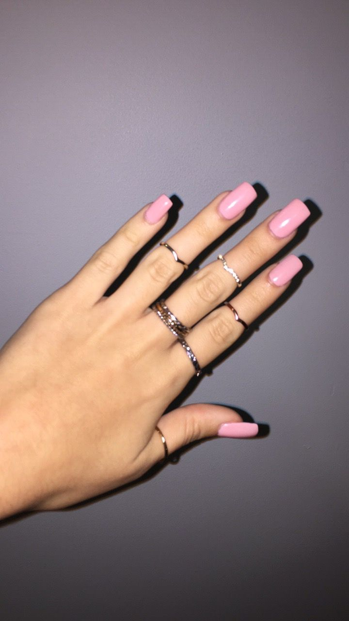 Light Pink Nails Pink Acrylic Nails Square Acrylic Nails Light Pink Nails