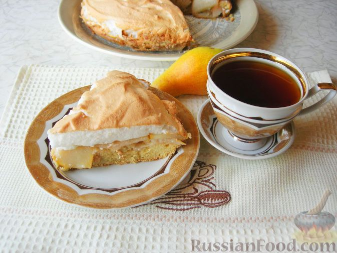 Фото Грушевый с пирог безе рецепт с Actual Property: Current