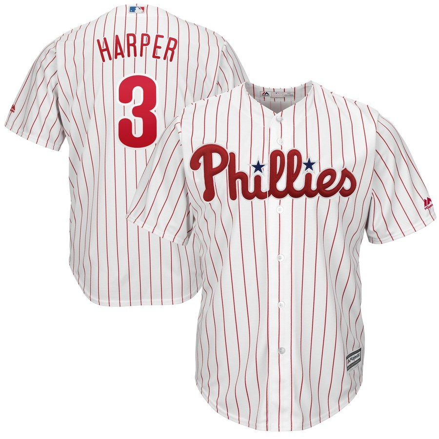 Men S Philadelphia Phillies Bryce Harper Majestic White Home Official Cool Base Player Jersey With Images Philadelphia Phillies Phillies Bryce Harper
