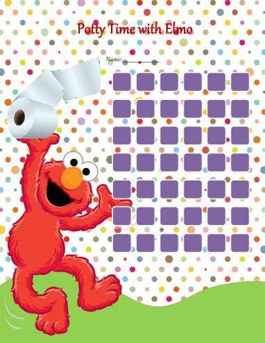 Quadro de incentivo Elmo para desfralde