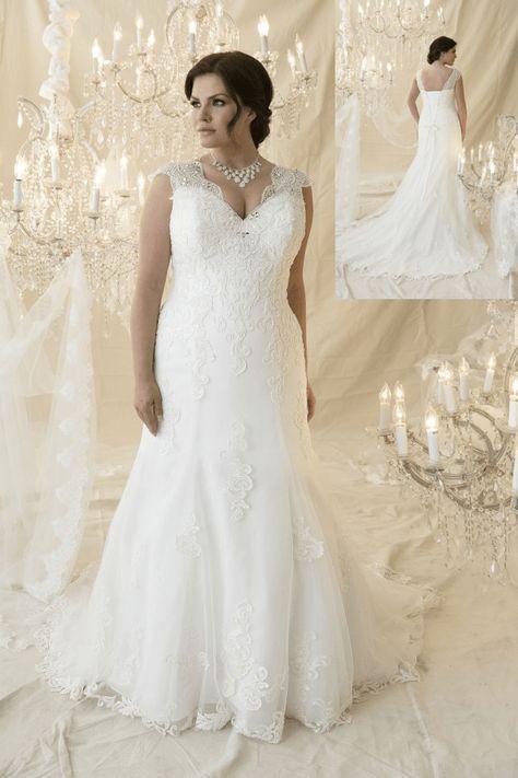 plus size wedding dress, plus size, callista bridal ...
