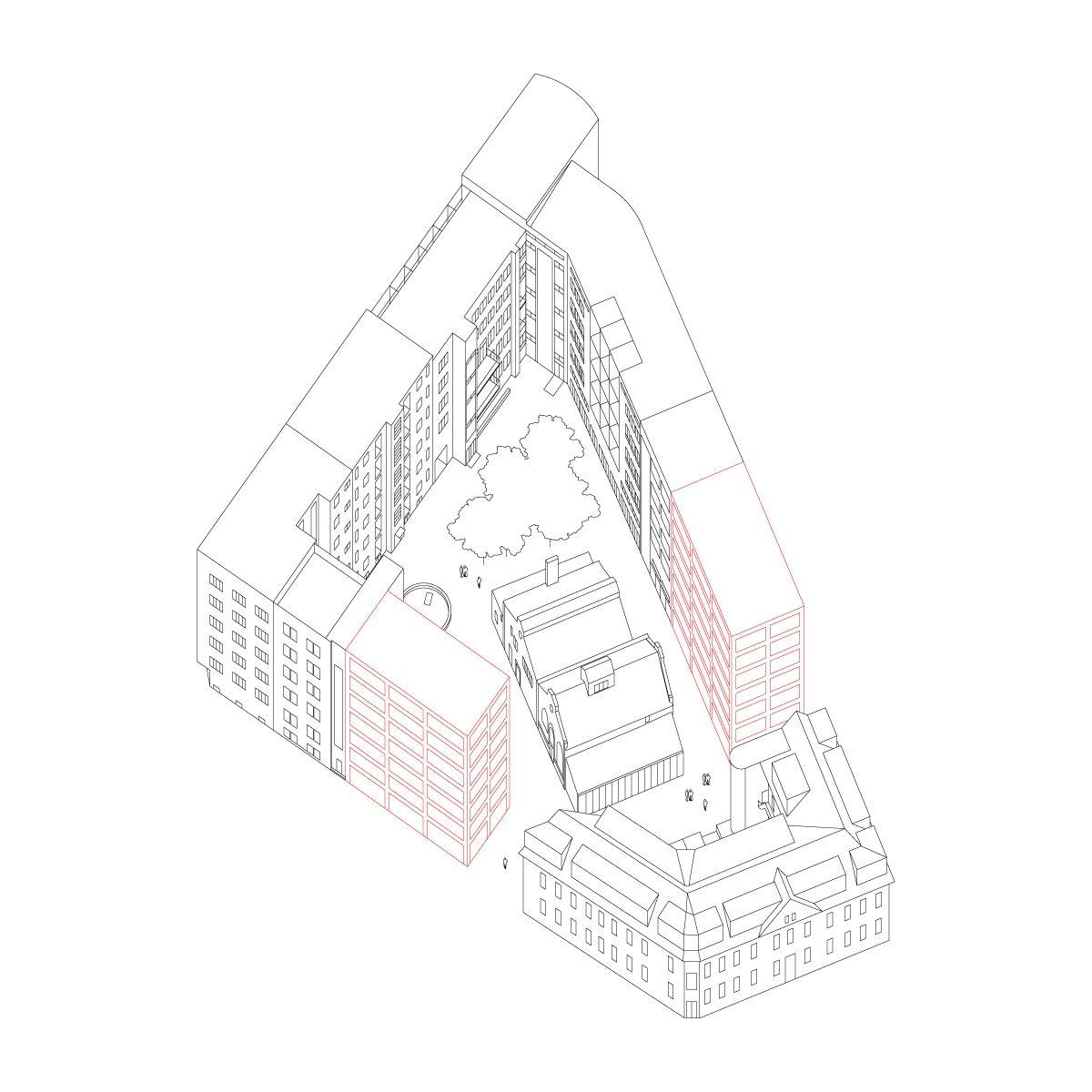Axonometric View, Architectural Presentation, Landscape Architecture, Architecture  Design, Architectural Drawings, Objects, Architecture, Architecture ...