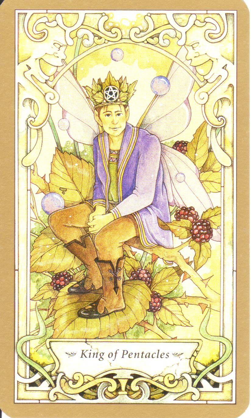 Mystic Faerie Tarot: King Of Pentacles