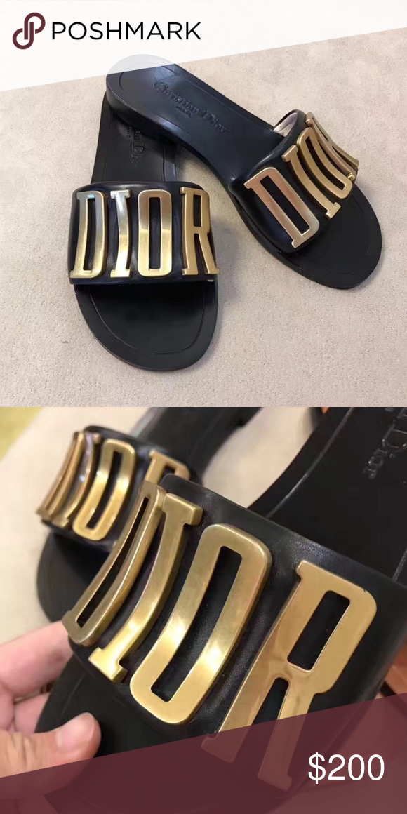 8fb0c1c9c15c Dior Slides Please don t ask the obvious! Must have! Summer slides! Dior  Shoes Slippers