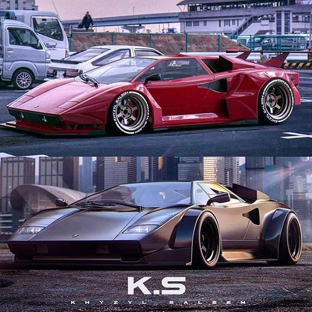 "AutoPlay️ – Millennials Auto on Instagram: ""Classic #Lamborghini #Countach rendered … Like? For more #classic #cars visit our friend @mralexmanos @mralexmanos @mralexmanos _ 📸…"""