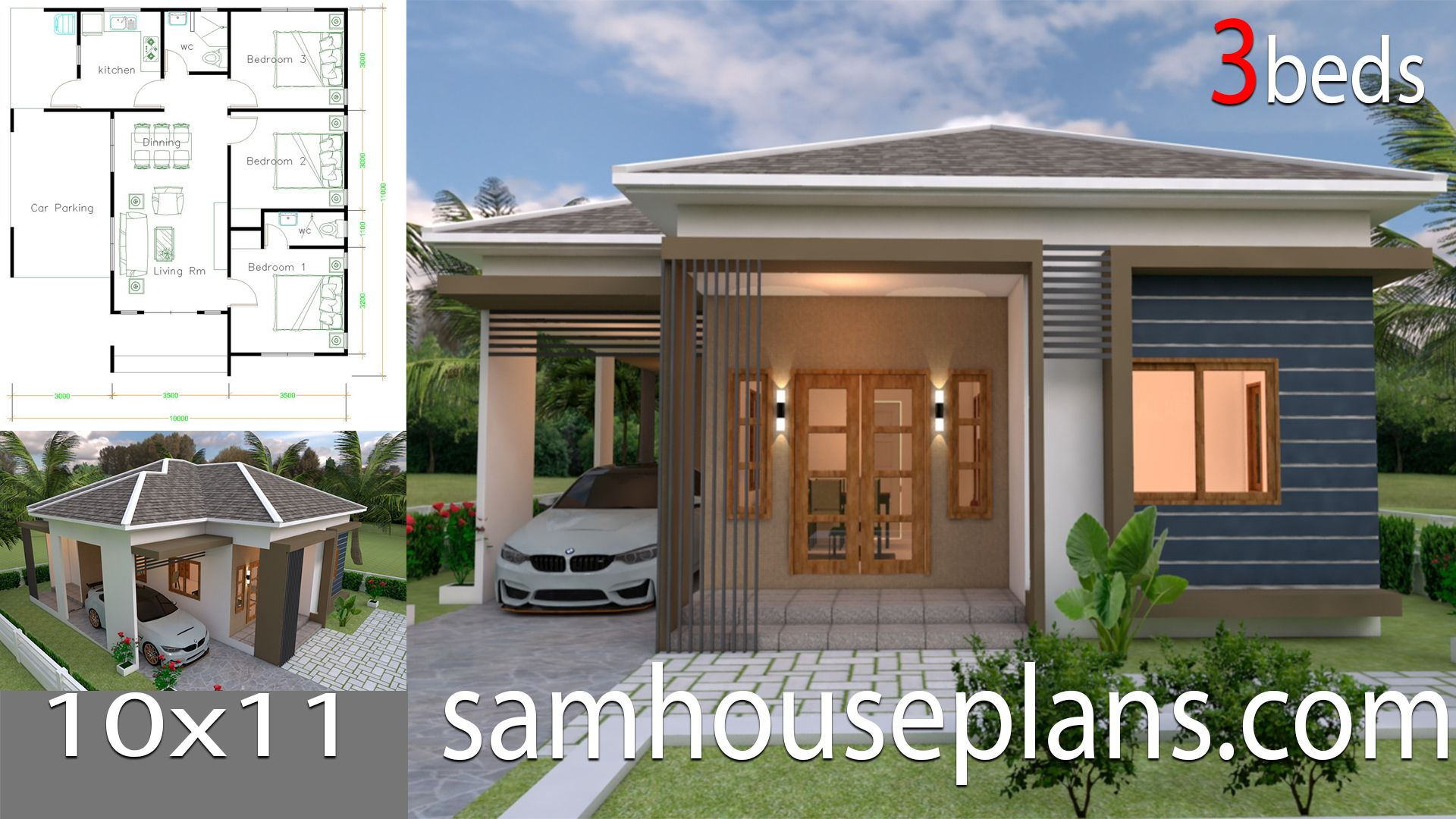 House Plans 10x11 With 3 Bedrooms Roof Tiles House Plans Free Downloads House Plans Small House Design Plans Home Design Plans