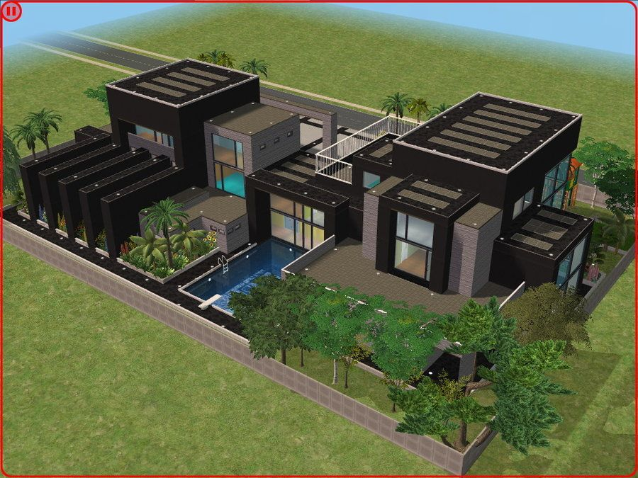 Sims 2 houses modern colorful home decor sims 3 for Sims 2 house designs floor plans