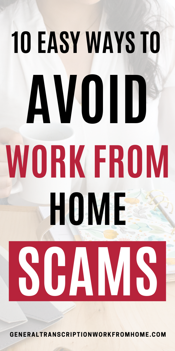 How to Avoid Work From Home Jobs Scams
