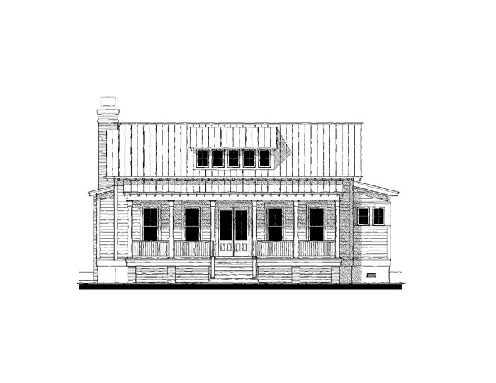 Whisper Creek Cottage variation House Plan Design from Allison Ramsey Architects