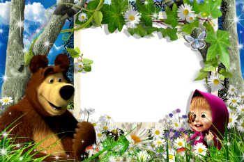 Molduras Para Fotos Gratis Online Categoria Masha E O Urso Masha E O Urso Festa Masha E O Urso Decoração Masha E Urso