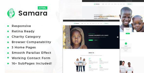 Samara Responsive HTML Template For Charity Fund Raising - Non profit websites templates