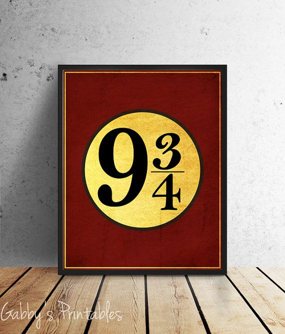 6ef213f1f Harry Potter Wall Art - Platform 9 3/4 - Hogwarts Express Fan Art Instant