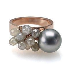 Rose Gold Designer Ring Fine Jewelry NYC Catherine Angiel