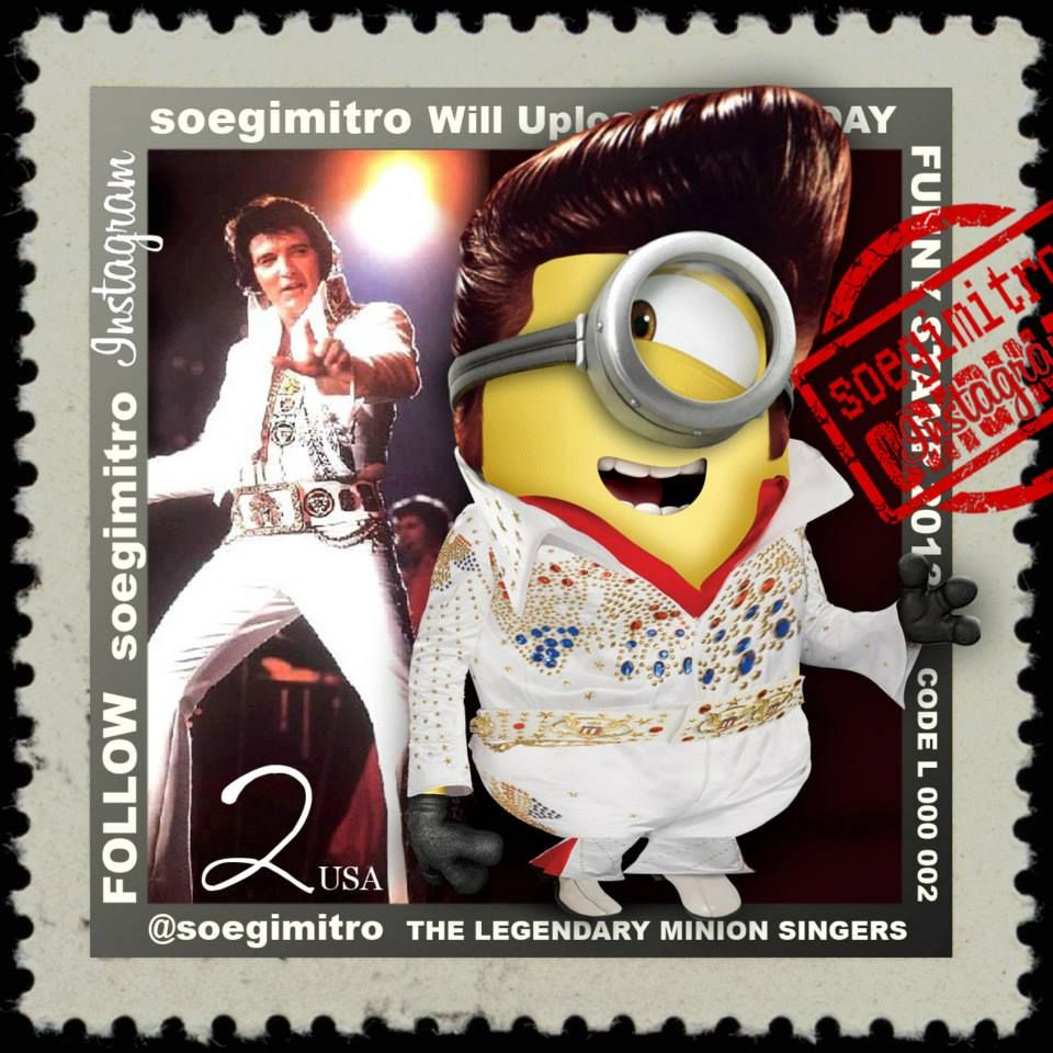 Minion Elvis Presley I Passed Out Minion Mayhem Pinterest