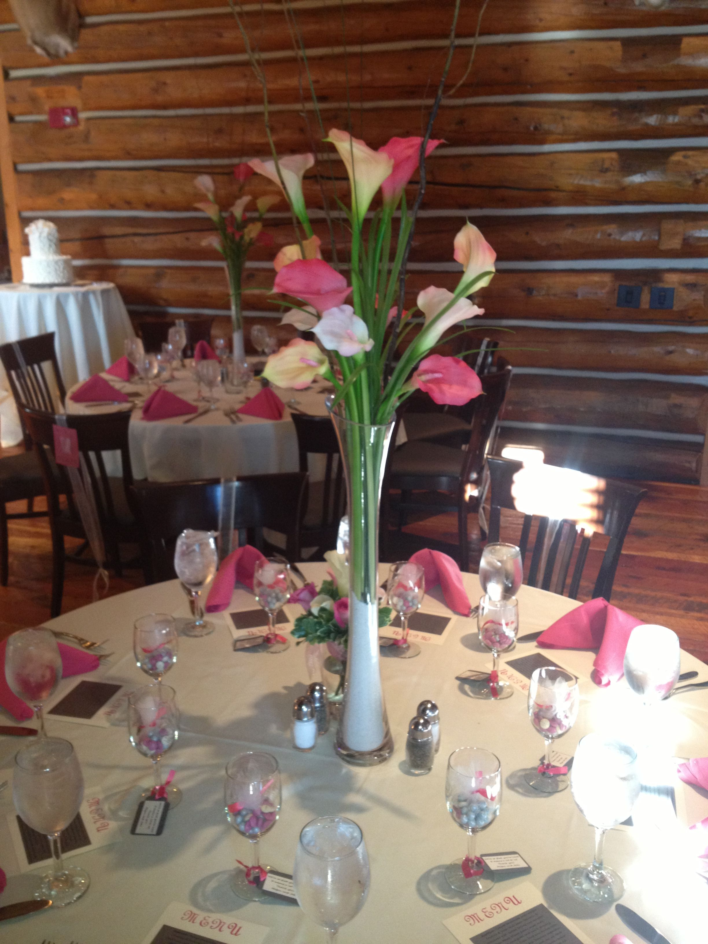Pink Calla Lily Centerpiece