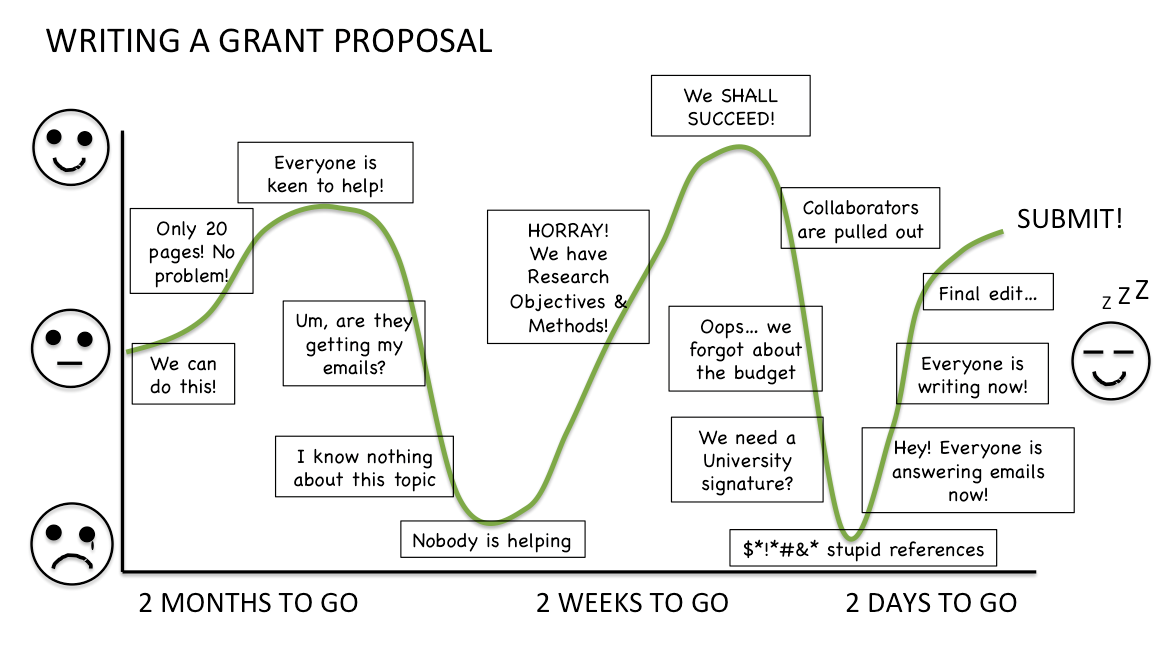 The emotional roller coaster of grant writing | SciComm Central ...