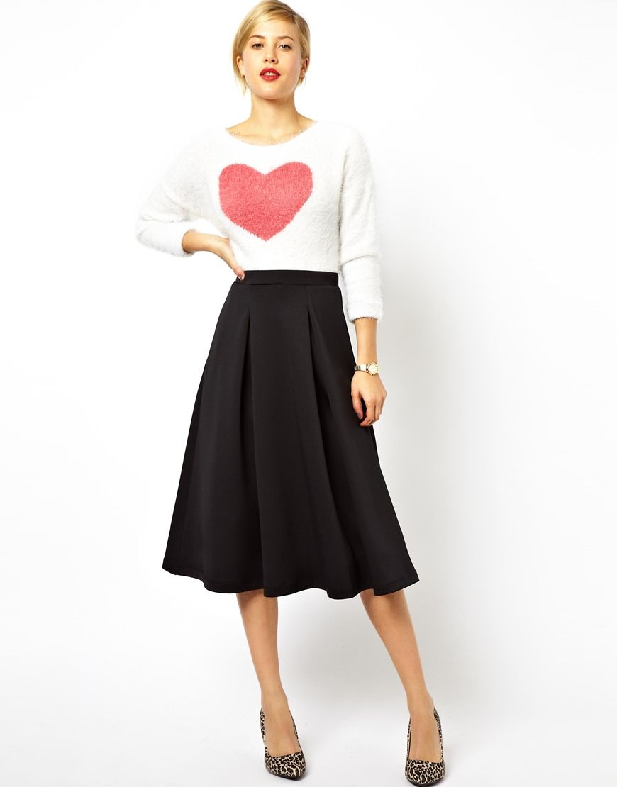 Midi Skirt for Spring | Scubas, Asos skirts and Work wear