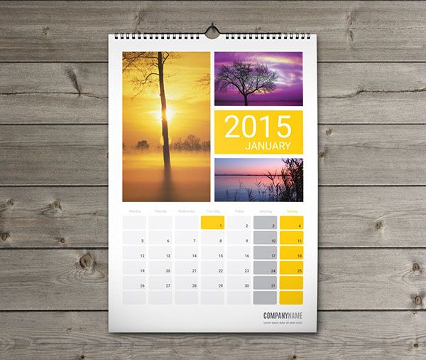 BEST Calendar Templates 2018 Wall and desk Planners and Calendars