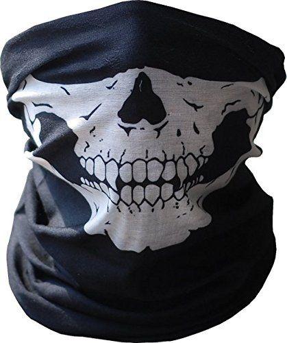 Angelia Motorcycle Skull Mask   Wear Headgear Neck Warmer Cycling Goggles  Bandana Balaclava Half Ski Skiing 7b687197734