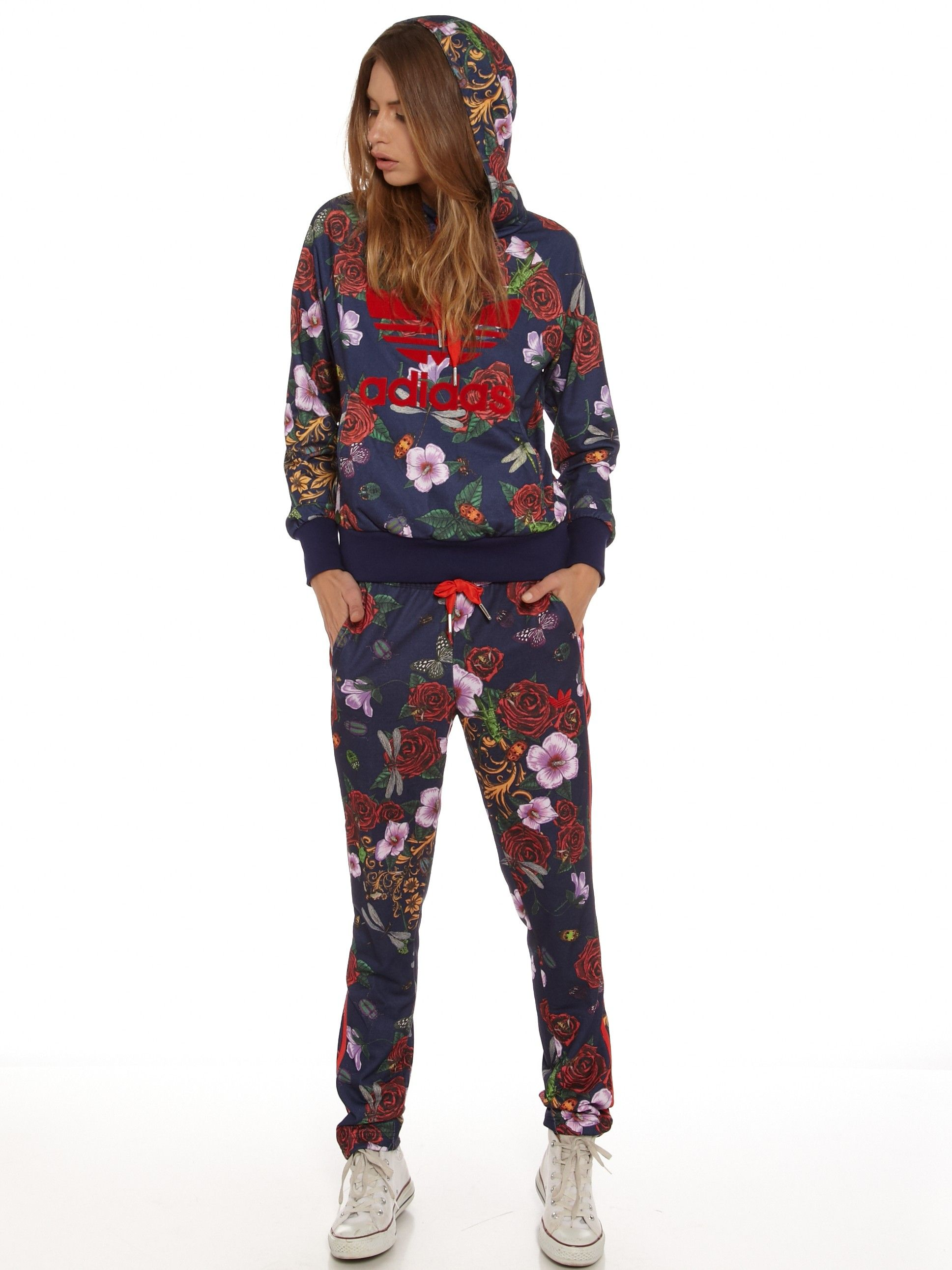 59acd674c7b4 Rita Ora Roses Trackpants in Baroque Floral Print