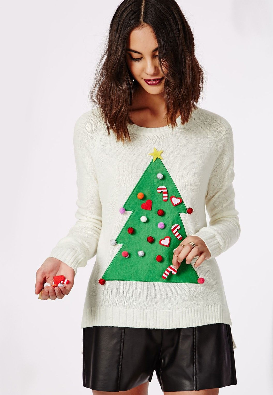 Christmas Tree Diy Knitted Jumper Knitwear Missguided