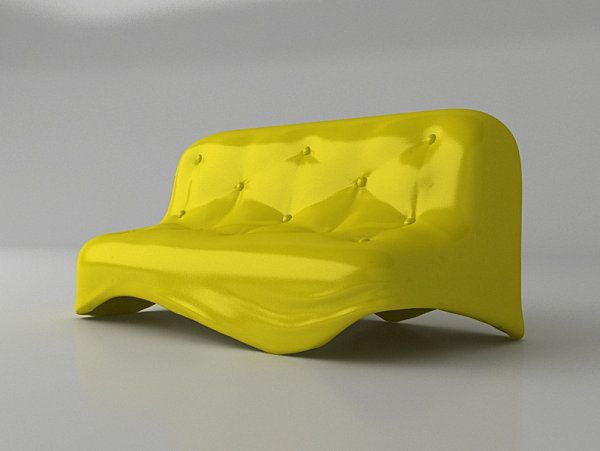 Amazing Unusual Furniture in Home Yellow Modern Vibrant Outdoor