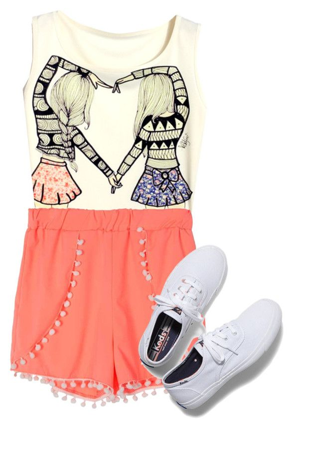"""Besties"" by arianagrandefan2693 ❤ liked on Polyvore featuring Keds"