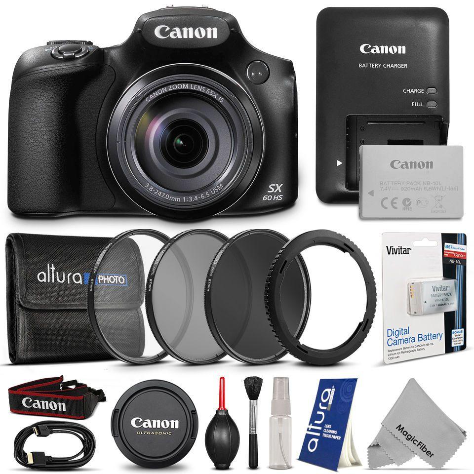 Canon Powershot Sx60 Hs Digital Camera Free Accessories Powershot Digital Camera Canon Powershot