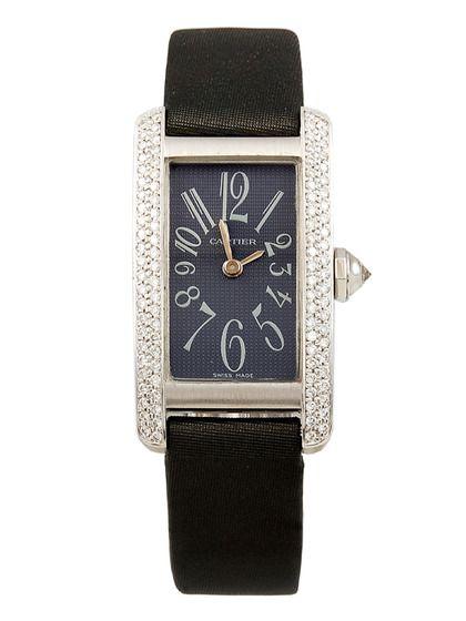 d3f91ed597b Cartier Tank Francaise 18K White Gold   Diamond Watch