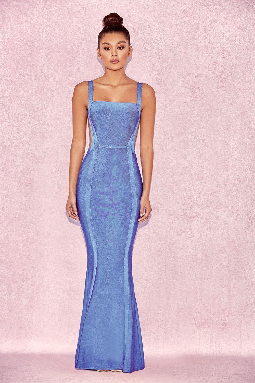 Clothing   Max Dresses    Ophelia  Cornflower Blue Backless Maxi Bandage  Dress 98cd3a7a9