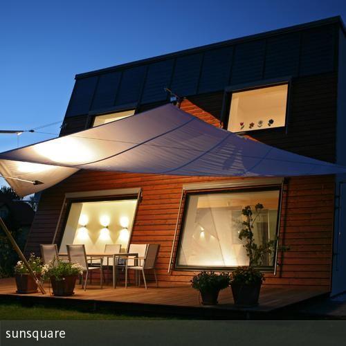 aufrollbares ma geschneidertes sonnensegel von sunsquare garten terrasse pinterest. Black Bedroom Furniture Sets. Home Design Ideas