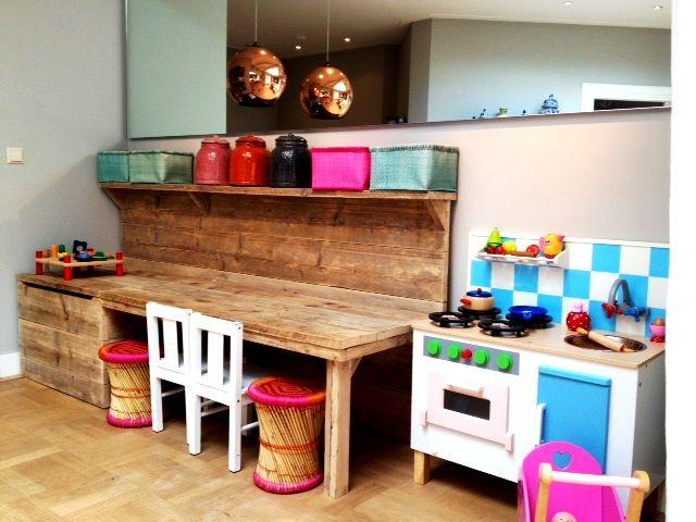 speelhoek briljante tafel kast bureau woonkamer pinterest