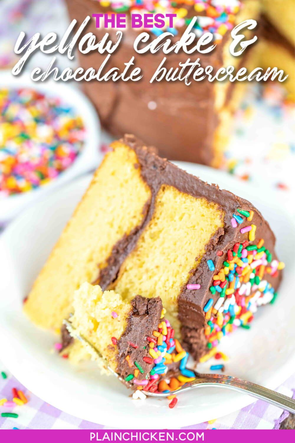The Best Yellow Cake Chocolate Buttercream Frosting In 2020 Boxed Cake Mixes Recipes Cake Ingredients Eat Dessert